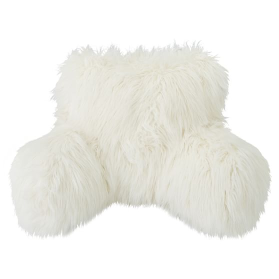 Fur-Rific Faux Fur Lounge Around Pillow Cover, Ivory