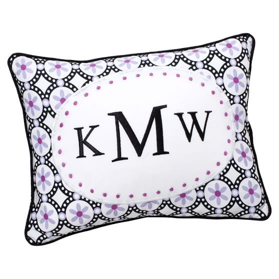 Pattern Pop Monogram Pillow Cover, 12x16, Boudoir