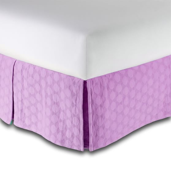 Big Dot Matelasse Bedskirt, Twin/Twin XL, Mauve