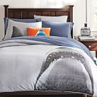 Shark Tee Duvet Cover, Twin, Heathered Gray