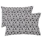 Happy Hearts Extra Pillowcases, Set of 2, Black