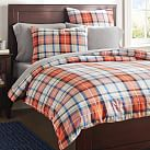 Field House Plaid Duvet Cover, Twin, Orange