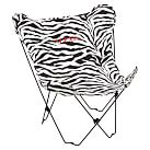 Classic Zebra Black Butterfly Chair