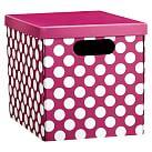 Dottie Printed Storage Bins, Medium, Pink Dottie