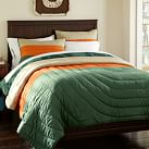 Burton Colorblock Quilt, Twin, Green/Orange