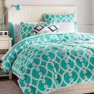 Totally Trellis Comforter, Twin, Pool