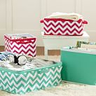 Store It Canvas Bin Collection, Underbed, Pink Chevron