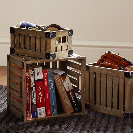 Wooden Storage Crates, Mini