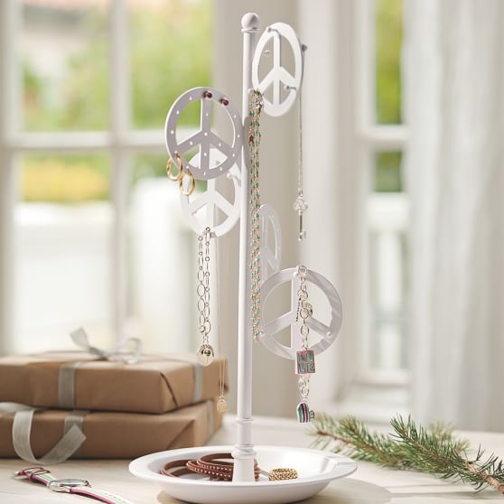 Peace Jewelry Holder, White