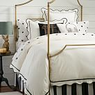 The Emily & Meritt Scallop Duvet Cover, Twin, Black/Egret