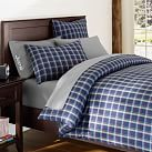 Hamilton Duvet Cover, Twin, Navy/Green/Red