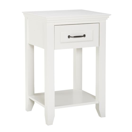 Hampton Bedside Table, Simply White