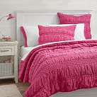 Ruched Quilt, Twin, Pink Magenta