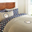 San Diego Chargers Duvet Cover, Full/Queen, Stone