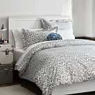Urban Ikat Duvet Cover + Sham, Twin, Light Gray