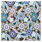 Style Tile, Fabric-Covered Tackboard, Ocean Floral Cool