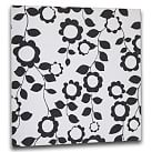 "Style Tile, Fabric-Covered Tackboard, includes 10 pushpins, 16""sq, Nouveau Floral"