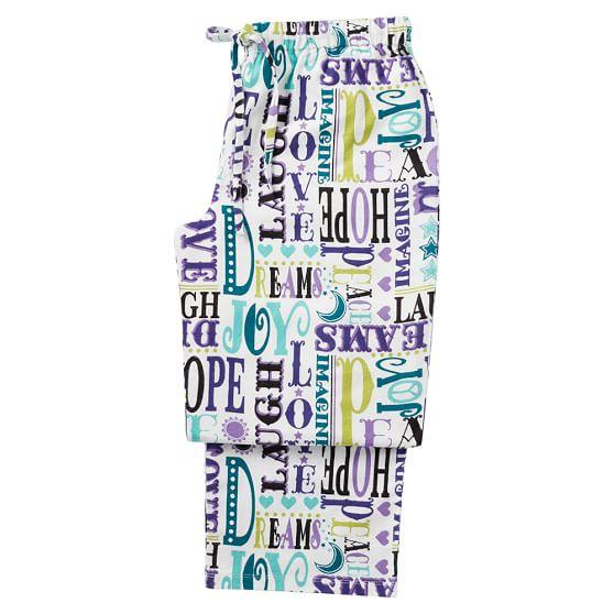 Sweet Dreams Pajama Pants, Small, Merry Word