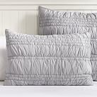Ruched, Standard Sham, Light Gray