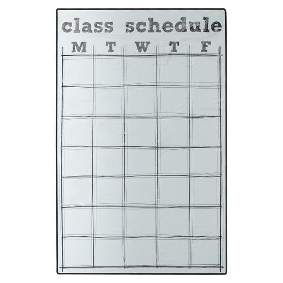 Class Schedule Locker Decal