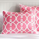 Totally Trellis, Standard Sham, Bright Pink