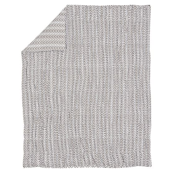 Ziggy Organic Ruched Duvet Cover, Twin, Coffee