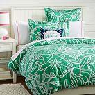Morgan Floral Duvet Cover, Twin, Gumdrop Green