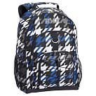 Gear-Up Bright Blue Houndstooth Backpack
