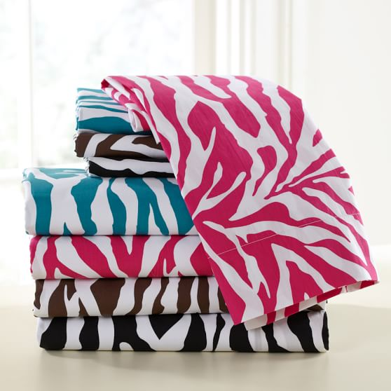 Funky Zebra Sheet Set, Pink Magenta, Twin/Twin XL