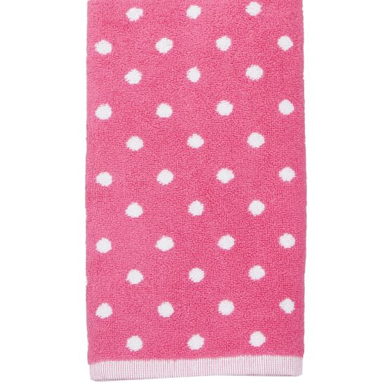 Dottie Towels, Pink Magenta, Wash Cloth