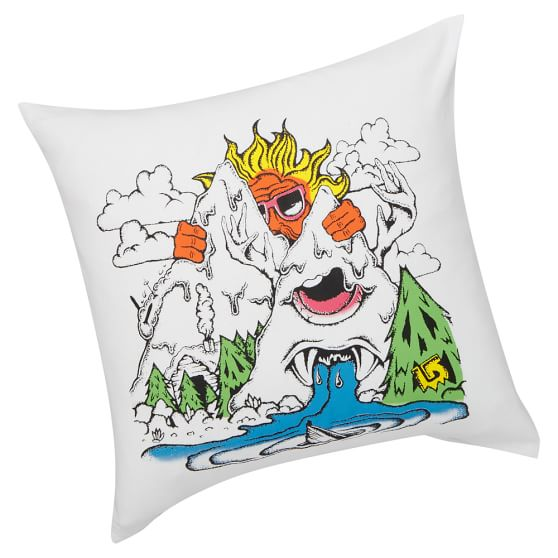 Burton Pillow Cover, Sun/Wave