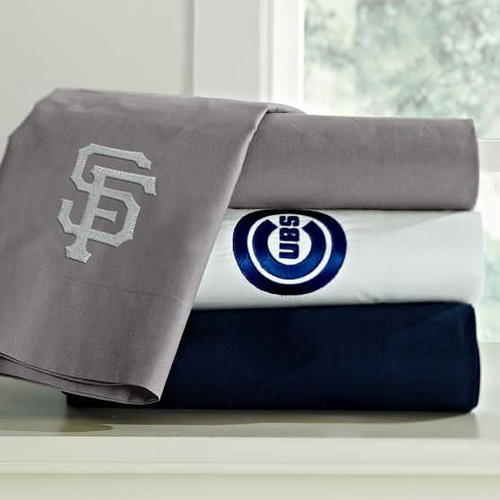 MLB Organic Sheet Set, Full, White