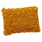 Felted Rosette Pillow Cover, 12x16, Golden Yellow