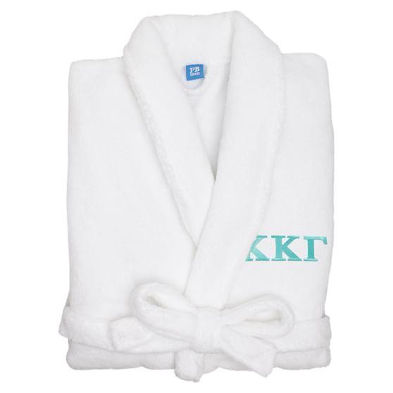 Greek Classic Robe, White