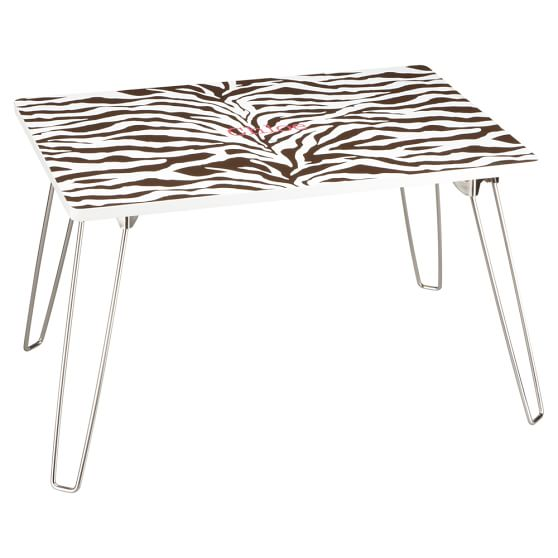 Zebra Flip-Out Lap Desk, Brown Zebra