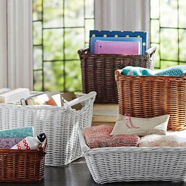 hideaway baskets pbteen. Black Bedroom Furniture Sets. Home Design Ideas