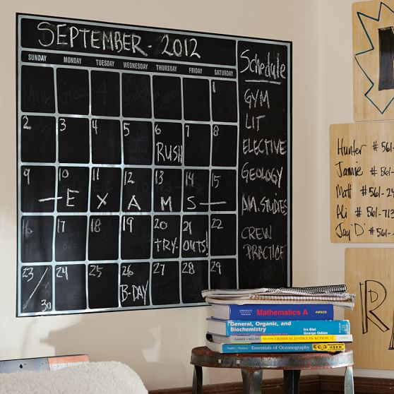 Chalkboard Calendar Decal : Chalk calendar wall decal pbteen