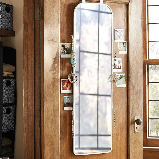 over the door full length mirror pbteen. Black Bedroom Furniture Sets. Home Design Ideas