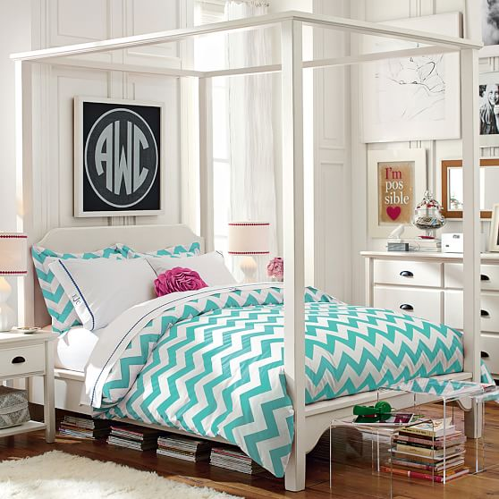 chatham canopy bed pbteen