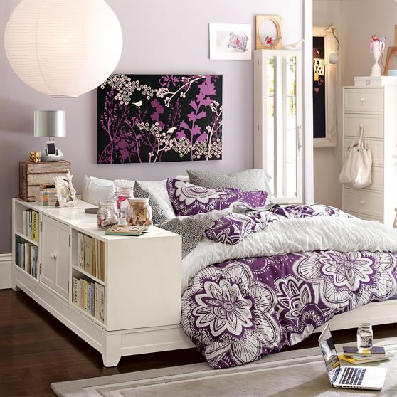Attractive Bookcase Bedroom Sets #13: Ultimate Bookcase Storage Bed Set | PBteen
