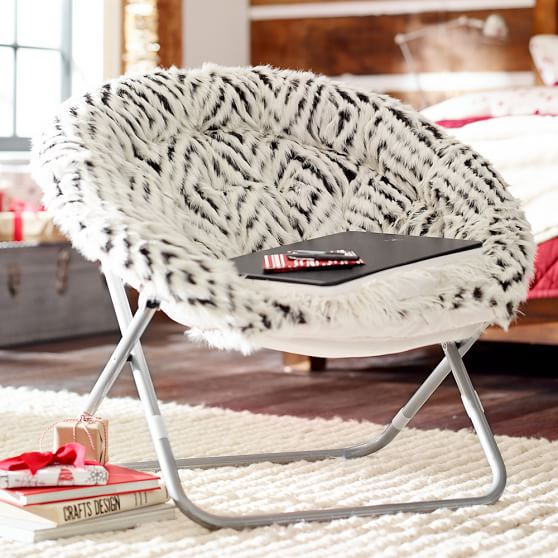 espresso kilim faux fur hang a round chair pbteen. Black Bedroom Furniture Sets. Home Design Ideas
