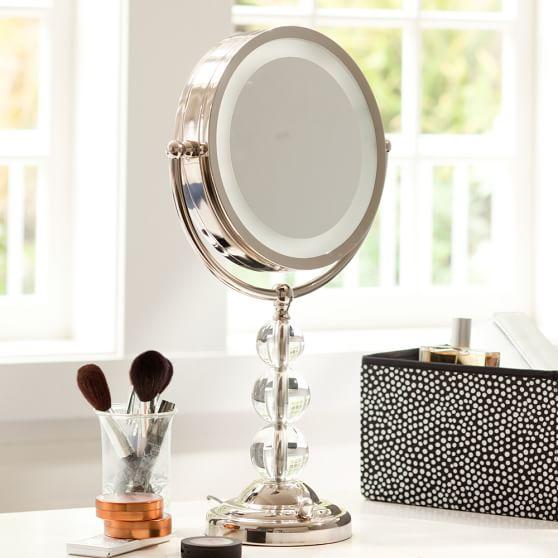 light it up beauty mirror pbteen. Black Bedroom Furniture Sets. Home Design Ideas