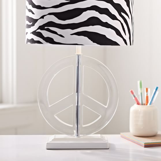 Peace Acrylic Lamp Base Pbteen