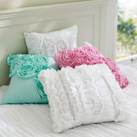 Throw Pillows Primark : Ruffle & Rose Pillow Covers PBteen