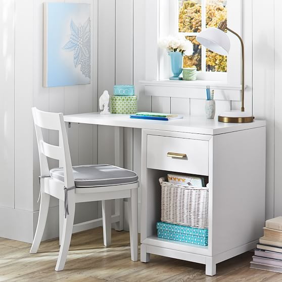 teen desk white