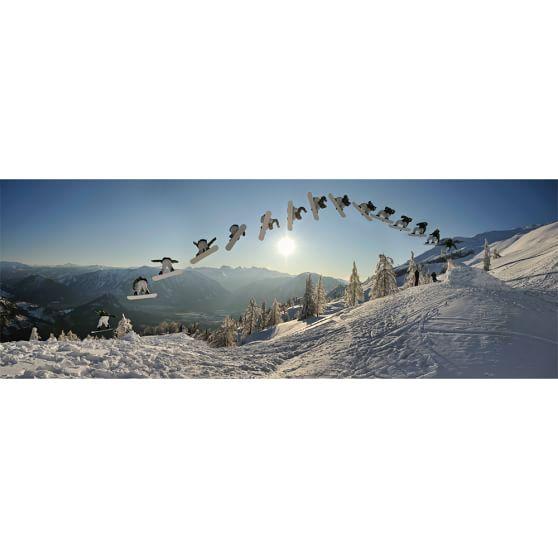 snowboard stop motion wall mural pbteen