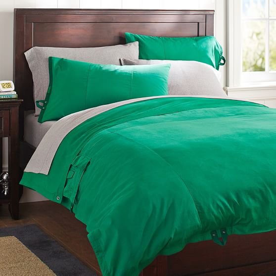 Classic Metro Duvet Cover Pillowcase Bright Green Pbteen