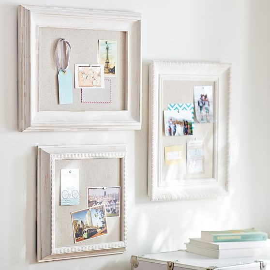 Wooden Eclectic Framed Pinboards, Set of 3   PBteen