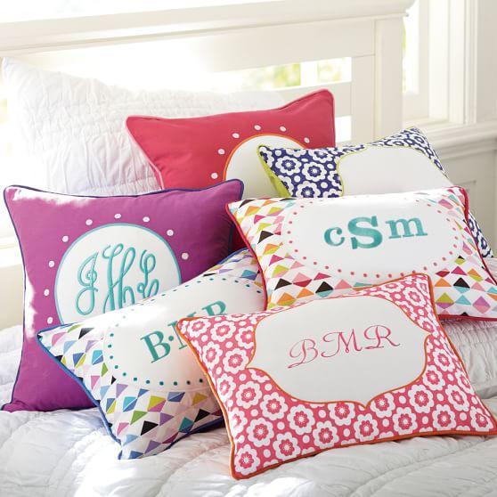 Throw Pillows Primark : Abby Monogram Pillow Cover PBteen