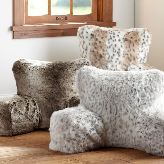 Faux Fur Lounge Around Pillow Cover Pbteen